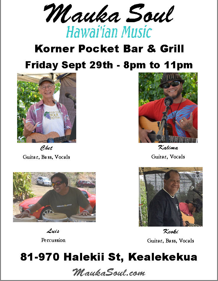 Korner Pocket on 9/29/17 - 8-11pm
